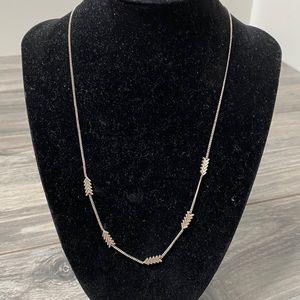 🌈 madewell silver arrow necklace